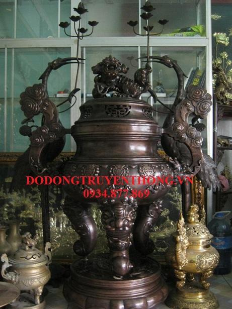 Đúc lư đồng,hạc đồng cỡ lớn-dodongtruyenthong.vn