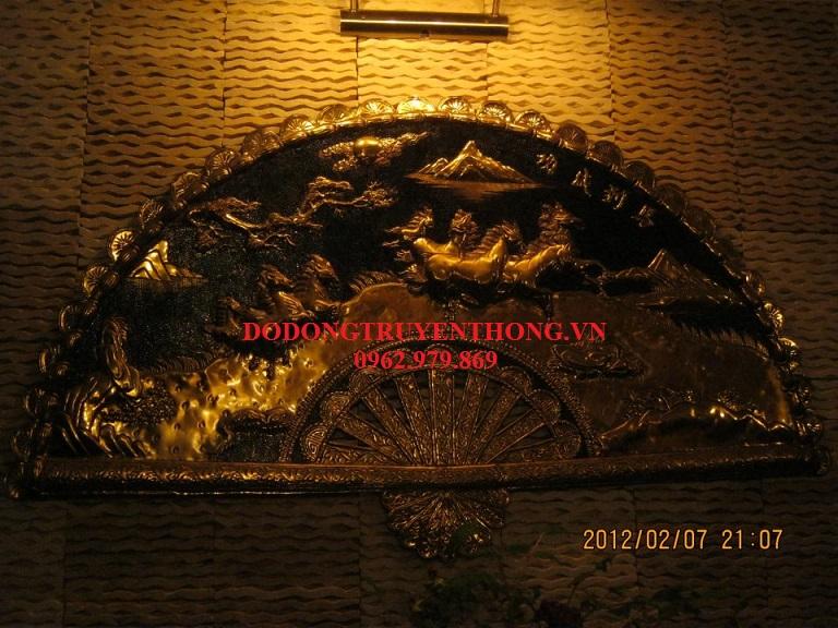 Quạt đồng treo thờ cúng,quạt đồng treo phòng khách-dodongtruyenthong.vn