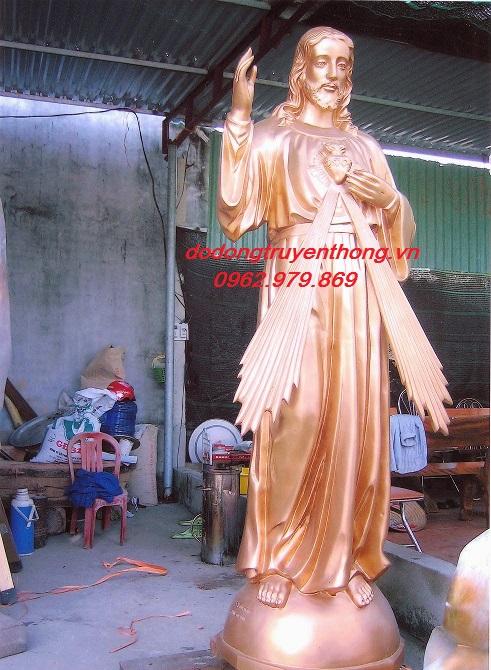 Đúc tượng đồng đúc chúa ,tượng đồng đức mẹ cao 2,8m