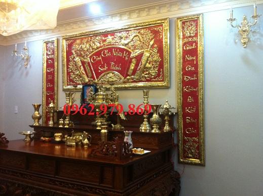 Hoành phi câu đối bàn thờ hương án đền thờ 1,75m