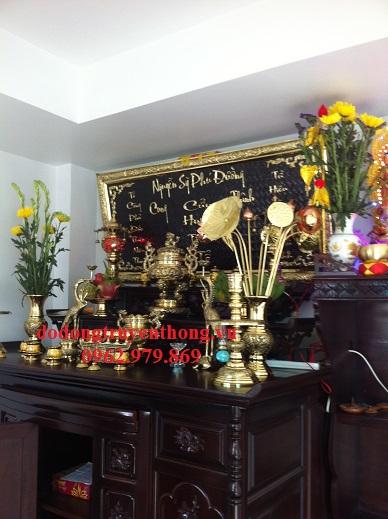 Bộ lư đồng vĩnh tiến 32cm thờ gia tiên-dodongtruyenthong