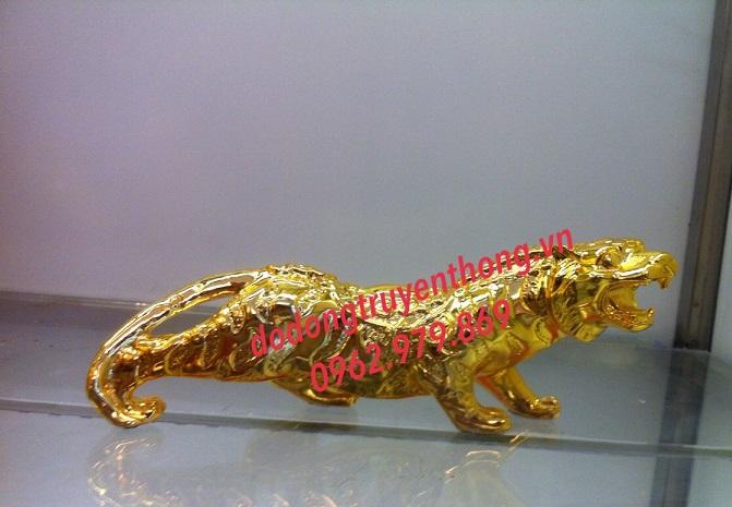 Tượng hổ mạ vàng quà tặng cao cấp-dodongtruyenthong