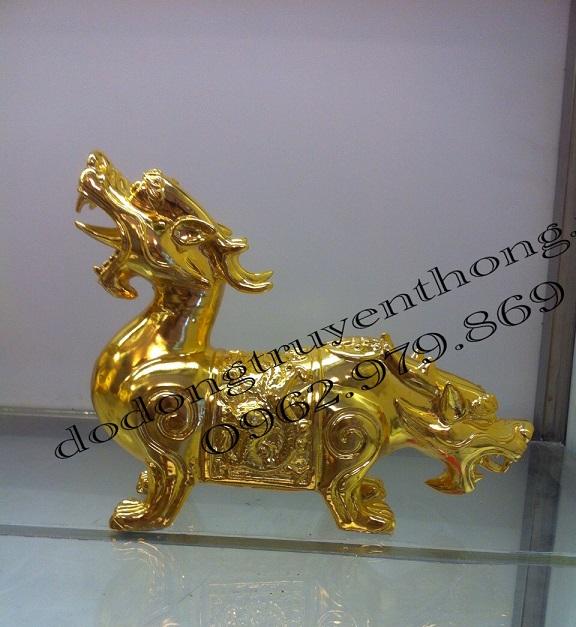 Tỳ hưu hai đầu mạ vàng cao cấp-dodongtruyenthong
