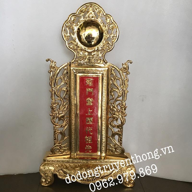 Bài vị bằng đồng mạ vàng 24k Thờ tổ tiên