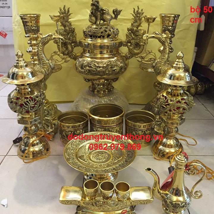 Lư đồng đại phát đầy đủ cho bàn thờ người việt