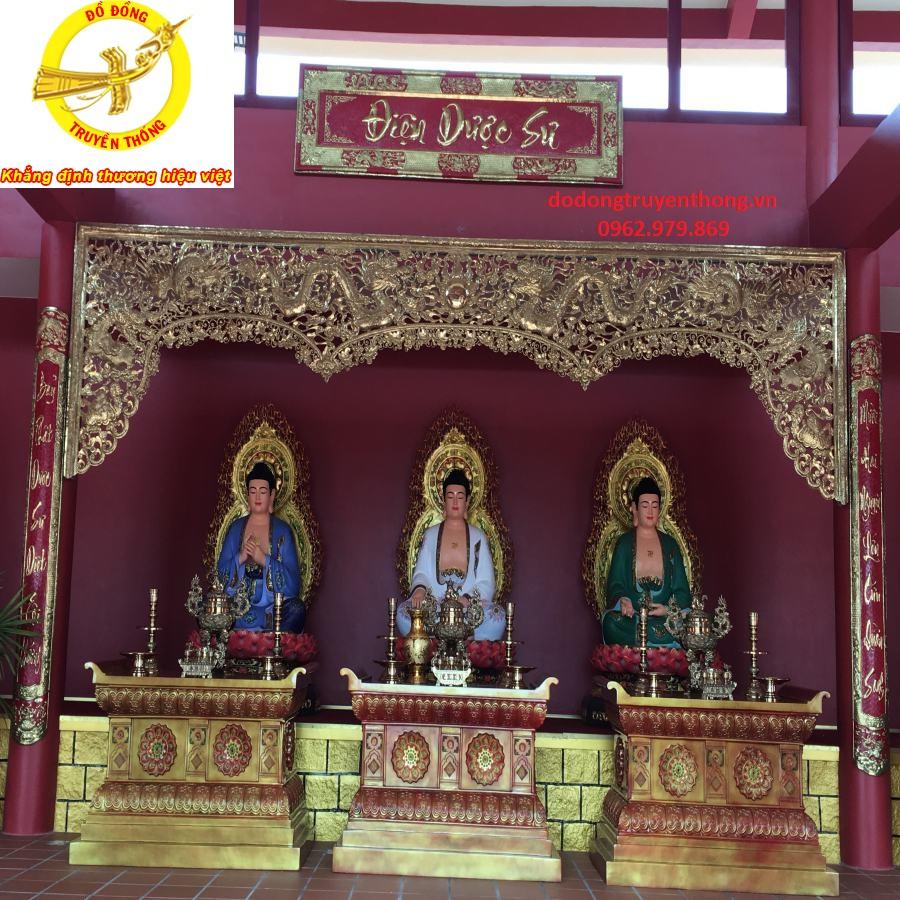 Án gian bằng đồng trang trí đình chùa đẹp