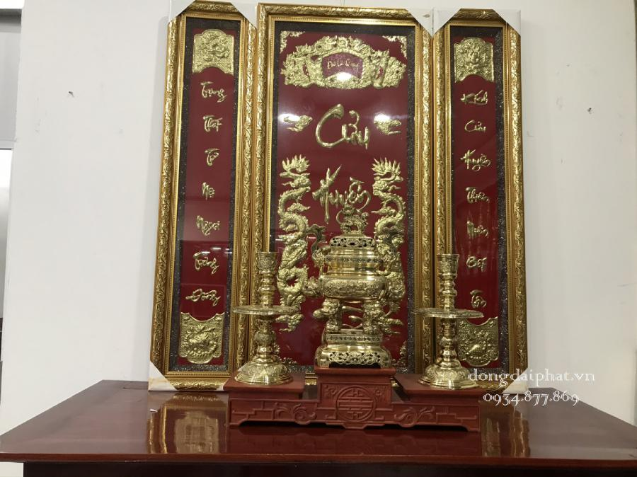 Cửa hàng bán tranh thờ cửu huyền bằng đồng
