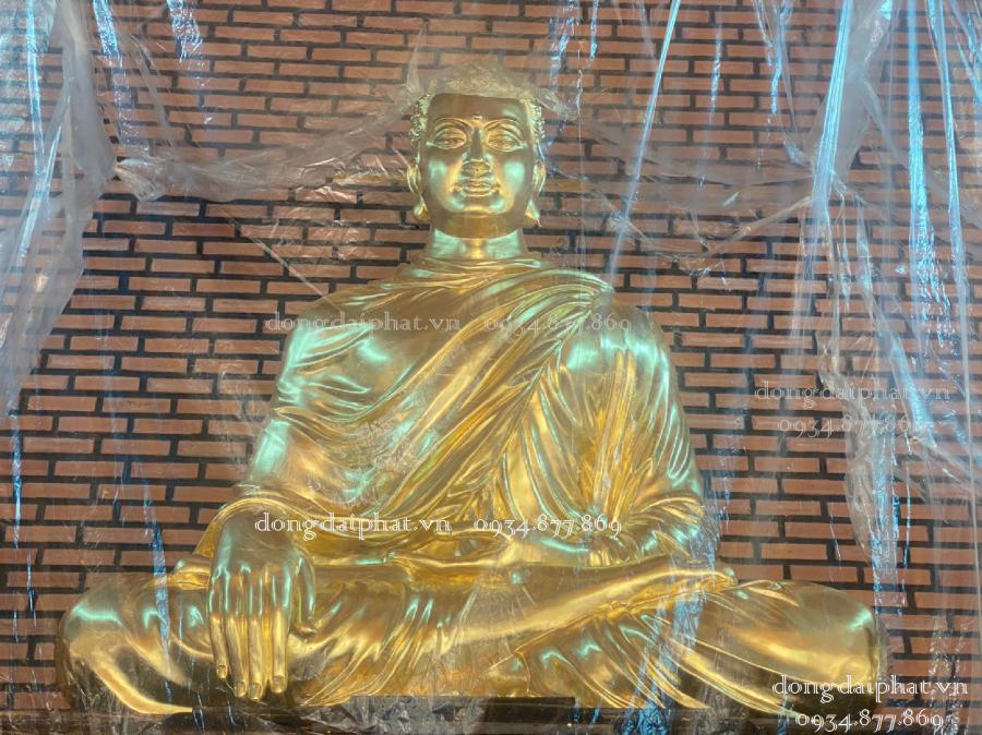 Hướng dẫn tự tay dát vàng 9999 nên tượng Phật