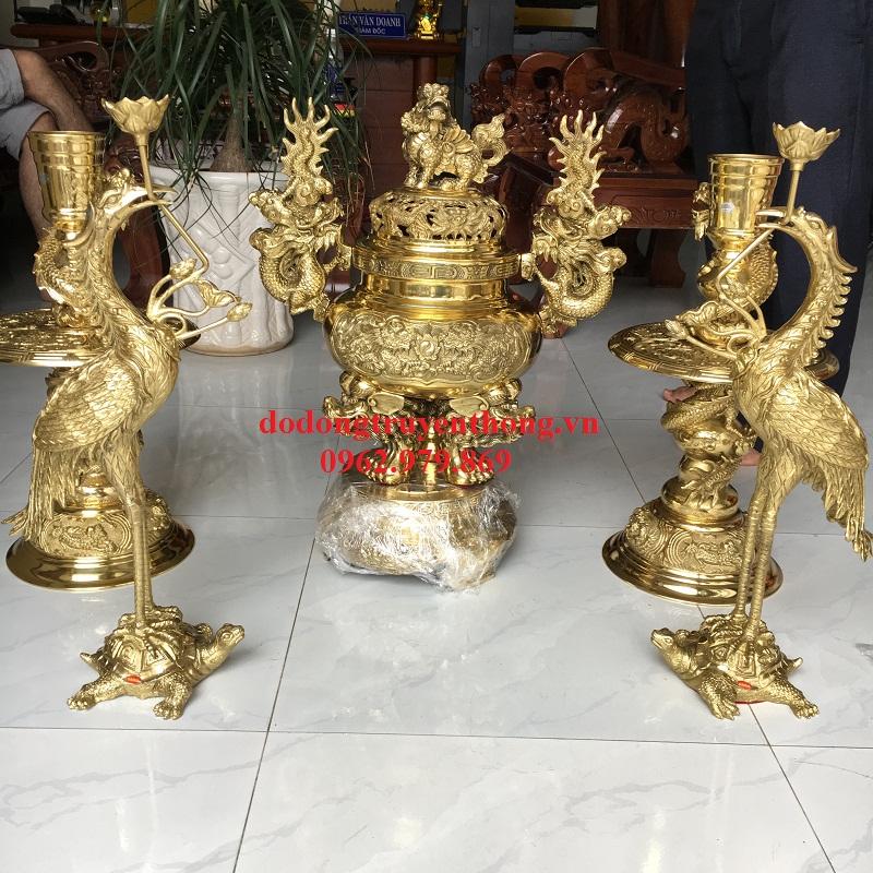 Đỉnh đồng ngũ sự đại phát 4d cho bàn thờ 1,75m tại Hà Nội