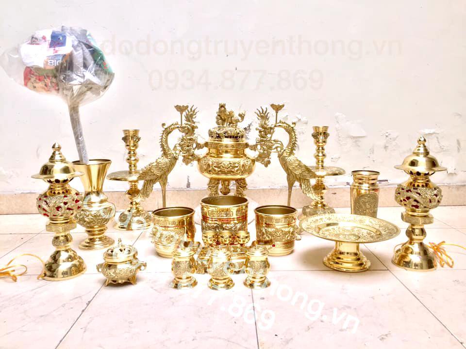 Bộ đồ thờ bằng đồng đầy đủ bán tại HCM
