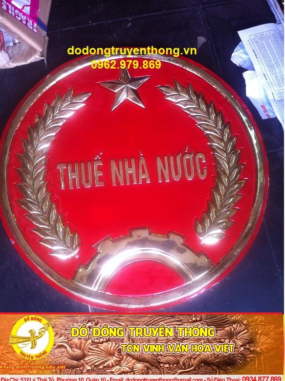 Làm logo,huy hiệu thuế nhà nước bằng đồng