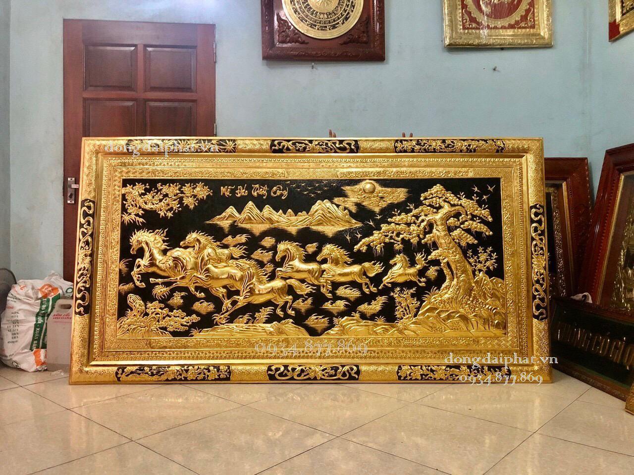 Những mẫu tranh đồng mạ vàng thường dùng.