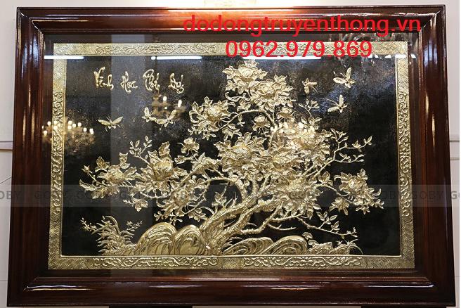 Tranh đồng mạ vàng 9999 Cao cấp Thễ Hiện đẳng cấp